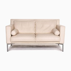 Cream Leather 2-Seat Sofa from Walter Knoll