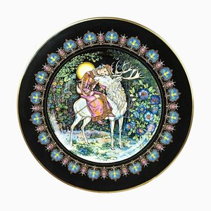 Russian Magical Fairy Tales Plate the Deer and Marusa by Gere Fauth, 1969