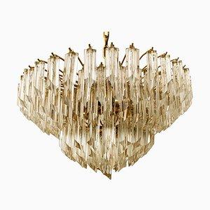 Großer 6-stufiger Kronleuchter aus Kristallglas von Paolo Venini, 1960er