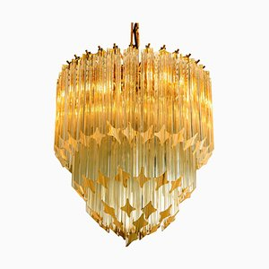 Large 4-Tier Crystal Chandelier by Paolo Venini, 1960s