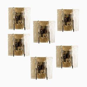 Murano Wandleuchte von Carlo Nason für Mazzega, 1960er