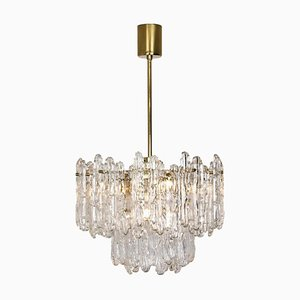 30 Ice Glass Chandelier from Kinkeldey, 1965