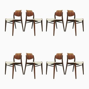Vintage Teak Dining Chairs by Hartmut Lohmeyer for Wilkhahn, 1960s, Set of 8