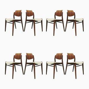Vintage Teak Esszimmerstühle von Hartmut Lohmeyer für Wilkhahn, 1960er, 8er Set
