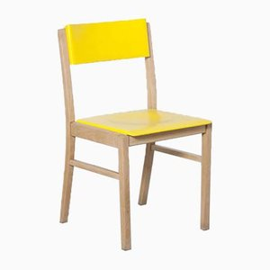 Yellow Beech Dining Chair from Zavod Sabinov, 1960s