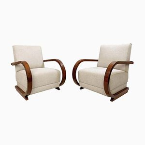 Austro-Hungarian Art Deco Armchairs, Set of 2