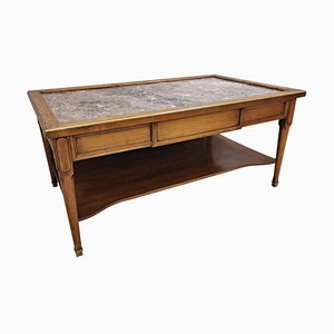Louis XVI Style Coffee Table in Birch, 1940s