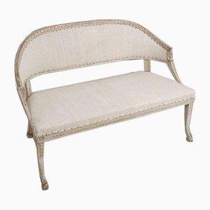 Small 18th Century Swedish Painted 2-Seat Sofa