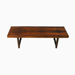 Rosewood Krobo Bench by Torbjørn Afdal for Bruksbo, Norway, 1960s
