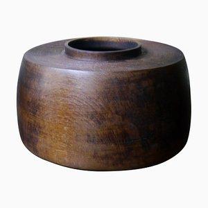 Hollow Form Limed Oak Bowl by Fritz Baumann
