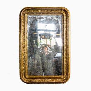 Antiker patinierter Spiegel mit Goldrahmen, 1880er