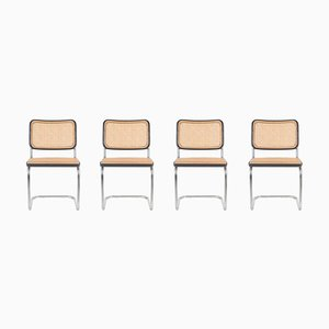 B64 Cesca Dining Chairs by Marcel Breuer for Thonet, 1950s, Set of 4