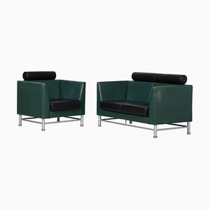2-Seat Sofa & Armchair by Ettore Sottsass, 1990s, Set of 2