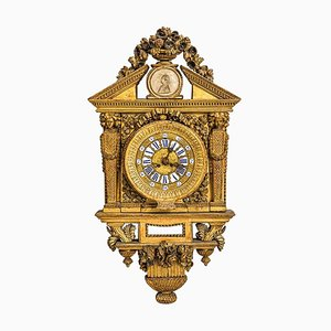 18th Century Italian Cartel Clock by Johannes Bapta, 1768