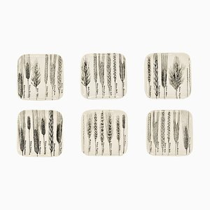 Spighe or Spikes Series Dishes by Piero Fornasetti, 1960s, Set of 6
