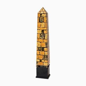 Vintage Metal Obelisk Lamp by Piero Fornasetti, 1970s