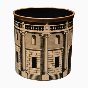 Vintage Waste Paper Basket by Piero Fornasetti, 1950s