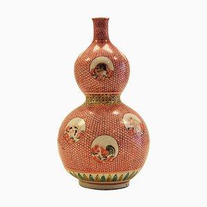 Antique Japanese Edo Period Porcelain Double Gourd Vase