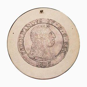 Relief Bas du 19ème Siècle de Ferdinando IV Borbone