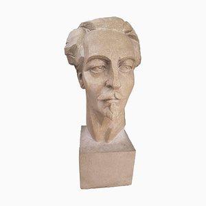Stone Portrait of Ezra Pound by Francesco La Monaca