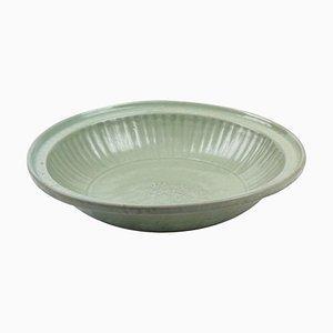 Chinesischer Glasierter Keramik Teller aus der Ming Dynastie