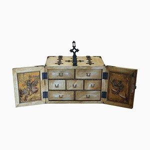 Kleiner italienischer Vintage Holz Geldhalter