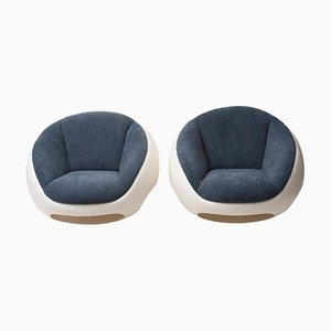 Fiberglass Lounge Chairs by Mario Sabot, 1960s, Set of 2