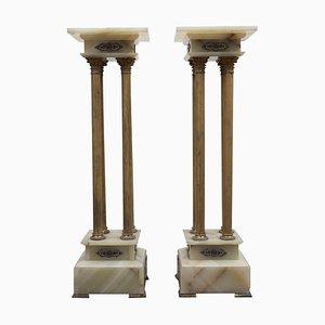 Antike russische Hohe Sitze aus Onyx, 1860er, 2er Set