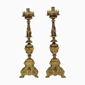 18th Century Italian Candleholders, Set of 2