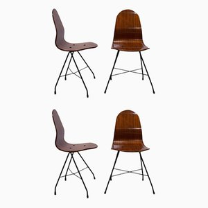 Vintage Holzstühle von Franco Campo & Carlo Graffi, 1950er, 4er Set