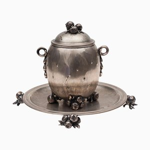 Vintage Silver Centrepiece and Tray by Luigi Genazzi, 1930s