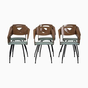 Chairs by Carlo Ratti, 1950s, Set of 6