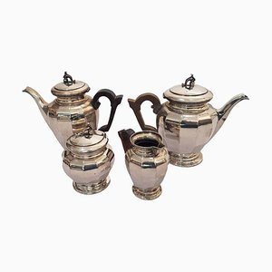 Tea and Coffee Silver 800 Set by Enrico Messulam for Bolli Milan, 1920s, Set of 4