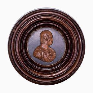 19th Century Bas Relief with Profile of Ferdinando IV Borbone