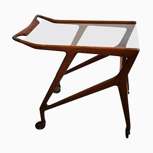 Vintage Serving Cart Attributed to Angelo De Baggis and Ico Parisi, Italy, 1950s