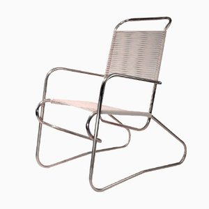 Tubular Steel Easy Chair by Jean Burkhalter, 1930s