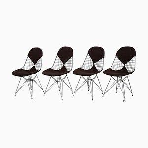 DKR / 2 Drahtstühle von Charles & Ray Eames für Herman Miller, 1950er, 4er Set
