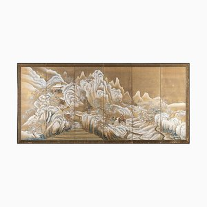 19th Century Snowy Landscape Panel by Takahashi Sohei