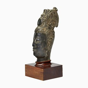 Vintage Chinese Guanyin's Head Stone Sculpture