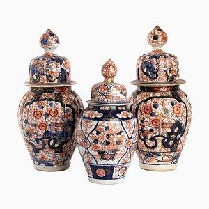 Japanese Imari Vases, Set of 3