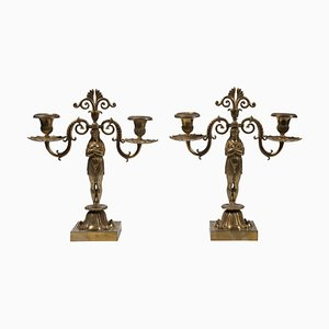 19th Century French Candleholders, Set of 2