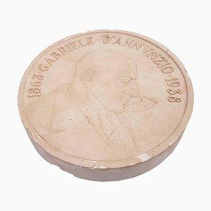 Vintage Bronze Cast Representing Gabriele D'Annunzio by Mistruzzi