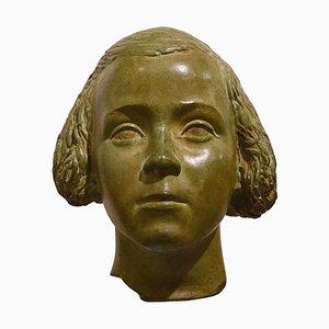 Büste eines jungen Mädchens Statue von Attilio Torresini, Italien, 1930er