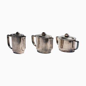 Set da caffè Silver Plate di Gio Ponti & Arthur Krupp Berndorf, anni '20, set di 3