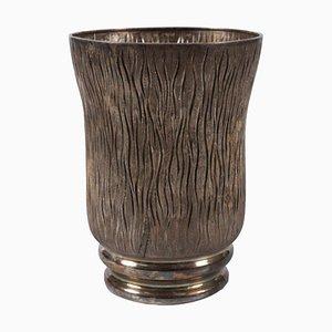 Italienische Vintage Messulam Silber Vase von Ditta Messulam Enrico, 1932