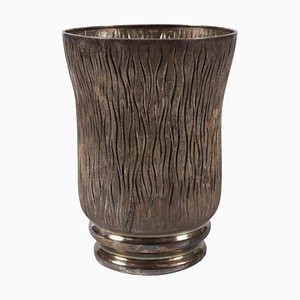 Vintage Italian Messulam Silver Vase from Ditta Messulam Enrico, 1932