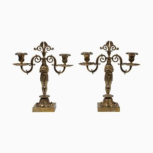 Vintage French Candelabras, Set of 2