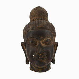 19th Century Bronze Head of Oriental Divinity