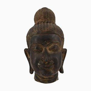 Kopf aus Bronze aus Bronze, 19. Jh. Orientalische Göttlichkeit