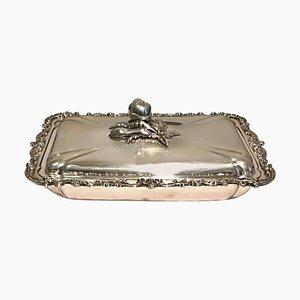 Vintage Silbertablett mit Tischplatte